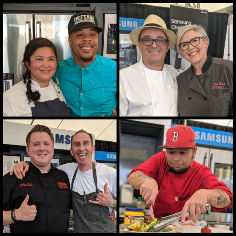 A collage of Tacoma Aroma chefs
